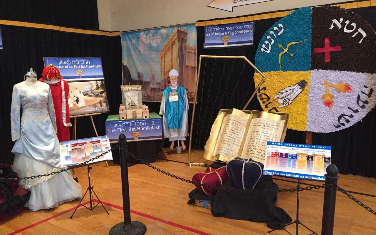Girls Elementary Division Bais Hamikdash display